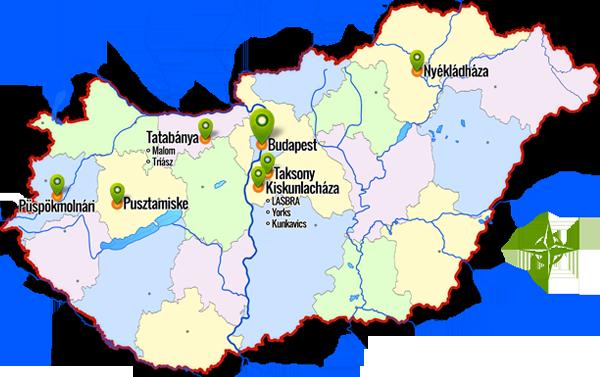 LBH térkép